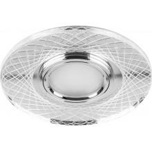 Светильник встраиваемый с LED подсветкой Feron CD970 15LED*2835 SMD 4000K MR16 50W G5.3 прозрачный хром (арт. 29666)