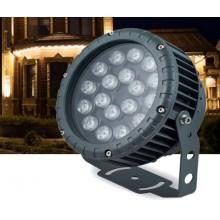 Прожектор светодиодный круглый Feron LL-884 D180xH230мм, IP65 18W, холодный белый (арт. 32144)