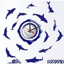 Декоративная наклейка с часами Feron NL20 1*AА батарея 23264