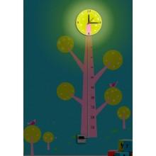 Светильник-часы с USB-проводом Feron NL74 8*0,5W LEDs 5730smd 1*AA батарея 23286