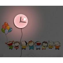 Светильник-часы с USB-проводом Feron NL75 8*0,5W LEDs 5730smd 1*AA батарея 23287