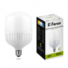 Лампа светодиодная Feron LB-65 E27 25W 4000K (арт. 25886)