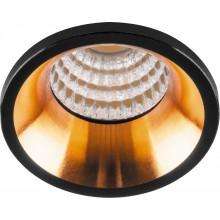 Светодиодный светильник Feron LN003 встраиваемый 3W 4000K черный с золотом (арт. 29697)