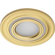 Светильник встраиваемый с белой LED подсветкой Feron CD600 потолочный MR16 G5.3 золото (арт. 29710)
