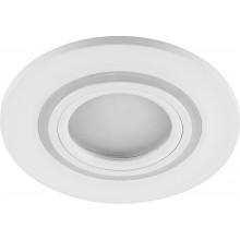 Светильник встраиваемый с белой LED подсветкой Feron CD600 потолочный MR16 G5.3, белый (арт. 29711)
