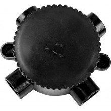 Монтажная электрическая коробка Feron КЭМ 2-660-4, 660V, 165х65х165, IP65 черный (арт. 29852)