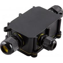 Водонепроницаемая cоединительная коробка Feron, LD523, 450V, 140х78х36, черный (арт. 32246)
