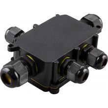 Водонепроницаемая cоединительная коробка Feron LD525, 450V, 140х100х36, черный (арт. 32248)