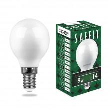 Лампа светодиодная Saffit SBG4509 9W 6400K 230V E14 G45 (арт. 55125)