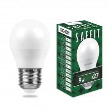 Лампа светодиодная Saffit SBG4509 9W 6400K 230V E27 G45 (арт. 55126)