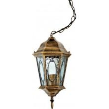 """Светильник уличный """"Витраж"""" с овалом на стекле Feron PL164 Черное Золото"""