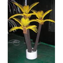Световое дерево КОКОСОВАЯ ПАЛЬМА ТРОЙНАЯ Flesi COL-3 желтая