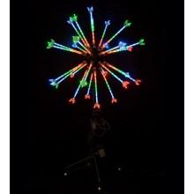 """Фейерверк """"Мини Шар"""", диаметр 0,8м, высота опоры 1м, 25 лучей, 300 светодиодов, мощность 24Вт, в комплекте с контроллером 8 программ, IP65"""
