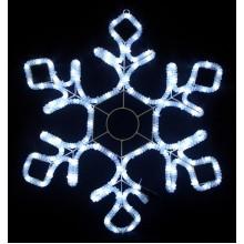 Световая мерцающая фигура СНЕЖИНКА Flesi 52x60,5 см белый холодный