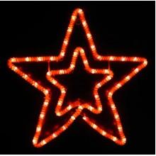 Световая мерцающая фигура ЗВЕЗДА Flesi 54x55 см красный