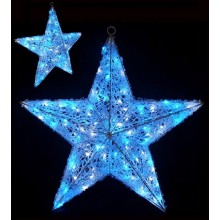 Световая объемная фигура ЗВЕЗДА Flesi 60х60х30 см белый-синий