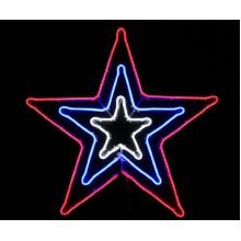 Световая фигура ЗВЕЗДА Flesi 83x83 см белый-синий-красный
