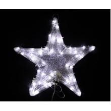 Световая низковольтная фигура ЗВЕЗДА Flesi 30x30 см белый