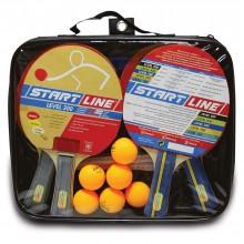 Набор теннисных ракеток Level 200 4шт, мячи club select 6шт, сетка с креплением 3952