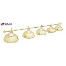 Светильник для бильярдного стола Fortuna Crown Golden 5 плафонов 6567