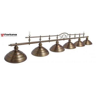 Светильник для бильярдного стола Fortuna Modena Bronze Antique 6 плафонов 8820