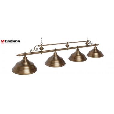 Светильник для бильярдного стола Fortuna Verona Bronze Antique 4 плафона 8822