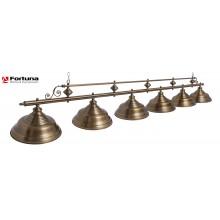Светильник для бильярдного стола Fortuna Verona Bronze Antique 6 плафонов 8823