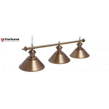 Светильник для бильярдного стола Fortuna Toscana Bronze Antique 3 плафона 8824