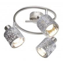 Спот Globo 54122-3 Alys матовый никель/серебро
