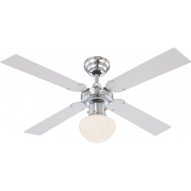 Люстра-вентилятор Globo CHAMPION 0330, хром, E27, 1x60W