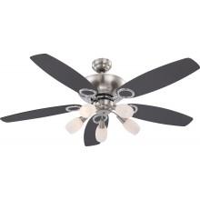 Люстра-вентилятор Globo JERRY 0337, матовый никель, E14, 5x40W