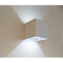 Светильник настенный светодиодный Kink Light 08585,01(4000K) Куб белый w10x10 h10 Led 6w (4000K) IP65