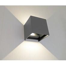 Светильник настенный светодиодный Kink Light 08585,16(3000K) Куб темно-серый w10x10 h10 Led 6w (3000K) IP65