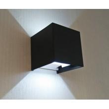 Светильник настенный светодиодный Kink Light 08585,19(4000K) Куб черный w10x10 h10 Led 6w (4000K) IP65