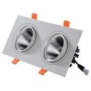 Светодиодный светильник Kink Light 2132 встраиваемый белый w17,4*9,2 Led 2*5W (4000K)