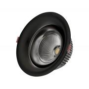 Светодиодный светильник Kink Light 2140,19 встраиваемый черный d9 h5,2 Led 7W (4000K)