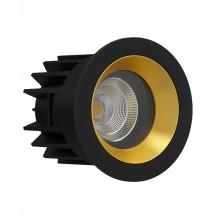 Светильник светодиодный LeDron FAST TOP MINI BLACK/GOLD LED 9,2 Вт 3000К Черный/Золотой порошковое покрытие
