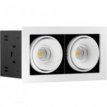Светильник встраиваемый LeDron ON-202-9W WH/BK LED 2*9,3 Вт 3000К Белый порошковое покрытие