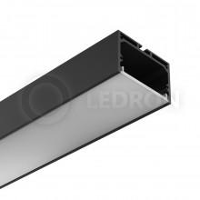 Профиль подвесной/накладной LeDron 13172(В) Черный с экраном 2500*49*32мм