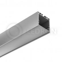 Профиль подвесной/накладной LeDron 13173 с экраном 2500*35*35мм