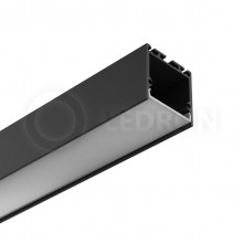 Профиль подвесной/накладной LeDron 13173(B) Черный с экраном 2500*35*35мм