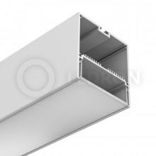 Профиль подвесной/накладной LeDron 13171(W) Белый с экраном 2500*74*77мм