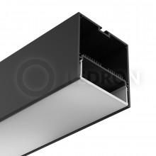 Профиль подвесной/накладной LeDron 13171(B) Черный с экраном 2500*74*77мм