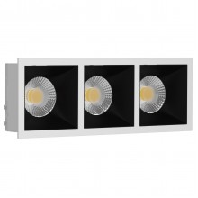 Светильник встраиваемый LeDron RISE KIT 3 White/Black GU10 50 Вт Белый/Черный