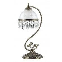 Настольная лампа Lumion 2989/1T бронзовый/стекло/хрусталь E27 60W 220V AVIFA