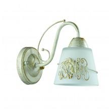 Бра Lumion 3003/1W белый/зол. патина/стекло/метал.декор E14 1*40W 220V VEVA