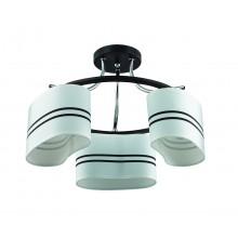 Люстра потолочная Lumion 3056/3C хром/черный/ткань Е27 3*40W 220V IVARA