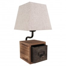 Настольная лампа лофт Lussole LOFT LSP-0512 (GRLSP-0512) Kenai коричневый E27 60 Вт
