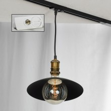 Светильник для шинопровода Lussole LSP-9670-TAW Baldwin черный/бронзовый E27 60 Вт
