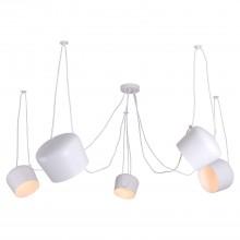 Светильник подвесной лофт Lussole LOFT LSP-8175 (GRLSP-8175) Shirley белый E27 60 Вт